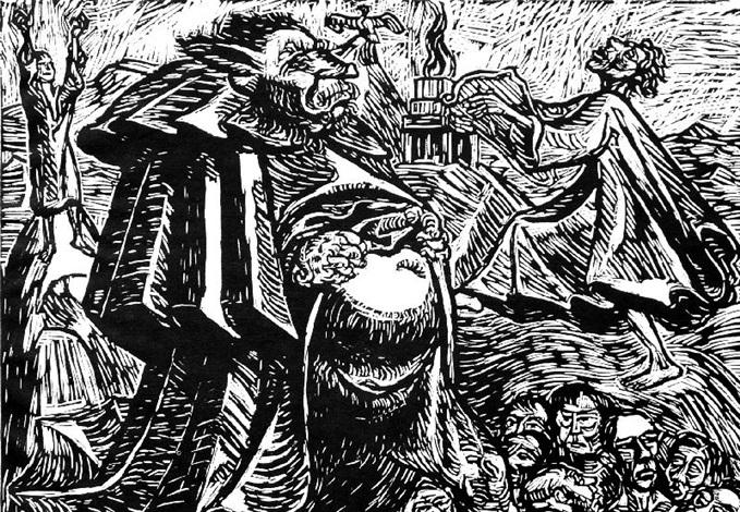 gott bauch pl 5 from die wandlungen gottes sturmangriff 1915 lithograph 2 works by ernst barlach