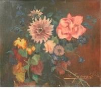 still life of flowers by luis graner y arrufi