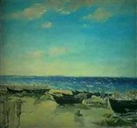 les barques sur la plage by nicolay andretsov