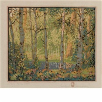 mountain pool by gustave baumann
