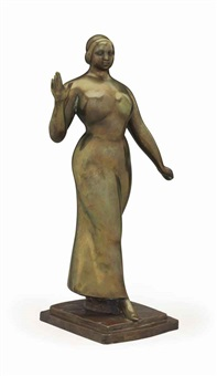 woman walking by gaston lachaise