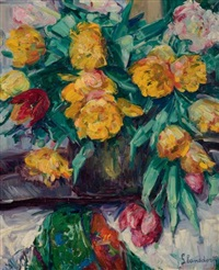 bouquet de fleurs jaunes by hubert glansdorff