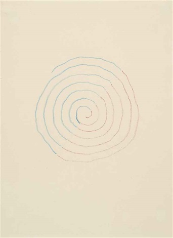 blue red spiral by richard tuttle