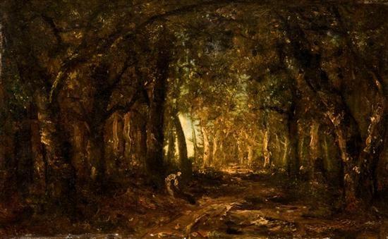 clearing in the woods by narcisse virgile diaz de la peña