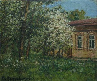 cabin in the apple orchard by petr ivanovich petrovichev