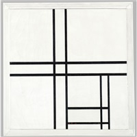 composition in black and white, with double lines by piet mondrian