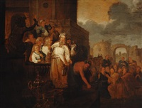 saint paul and saint barnabas in lystra by willem de poorter