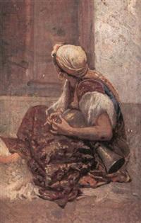 ragazza orientalista by m. simoni