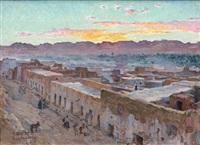 coucher de soleil, laghouat by alphonse etienne dinet