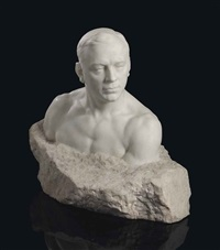 bust of leonid sobinov (1872-1934) by seraphin soudbinine
