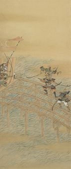 battle at uji bridge by iwasa matabei