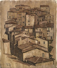 italienische stadt by leopold hauer