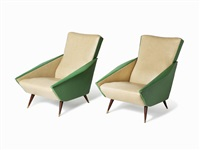 distex chairs (pair) by gio ponti