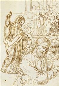 académies d'hommes, des études de figures et quelques scènes religieuses (sketchbook w/66 works) by pompeo girolamo batoni