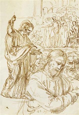 académies dhommes des études de figures et quelques scènes religieuses sketchbook w66 works by pompeo girolamo batoni