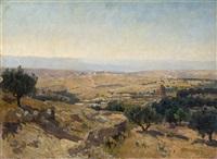 jerusalem landscape by josef krieger