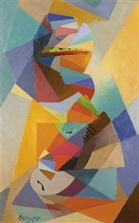 deux musiciennes by stanton macdonald-wright