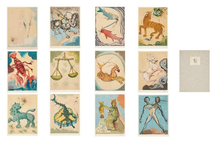 les douzes signes du zodiaque portfolio of 13 by salvador dalí