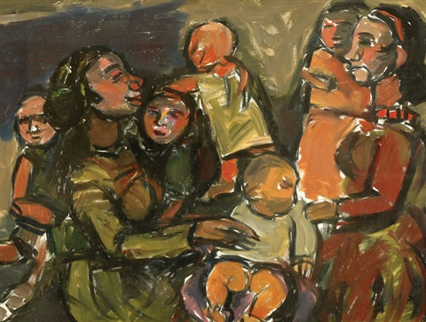 mothers and children by pinchas litvinovsky