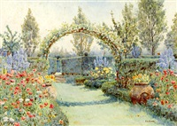 the arist's garden by ernest arthur rowe