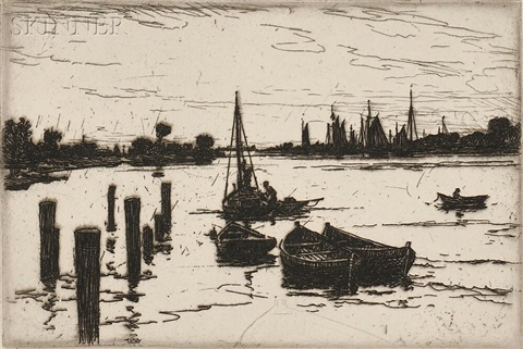 harbor by frank weston benson