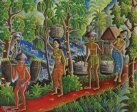 going to the market by ida bagus made nadera