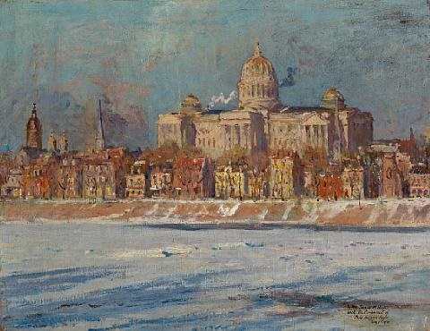 the pennsylvania state capitol building harrisburg by colin campbell cooper