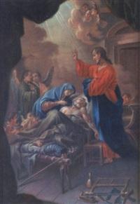 der tod des hl. josef mit maria und jesus by georg albert punz