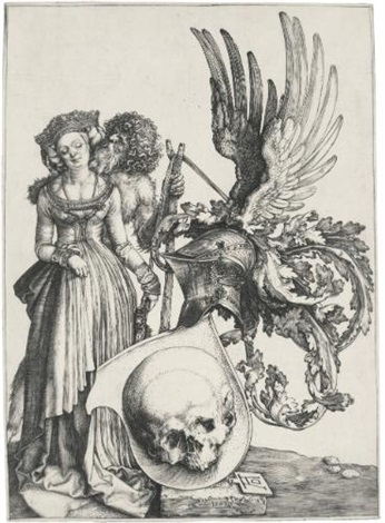 coat of arms with a skull by albrecht dürer