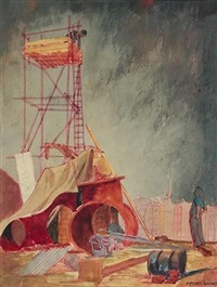 untitled - construction site by frank jeffrey edson smart