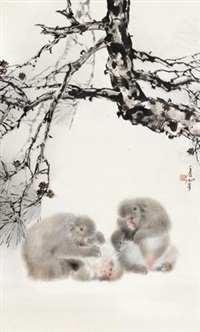 温馨 (monkeys) by lin hukui
