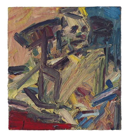 catherine lampert seated by frank auerbach