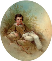 portrait of a young archer by louis lang