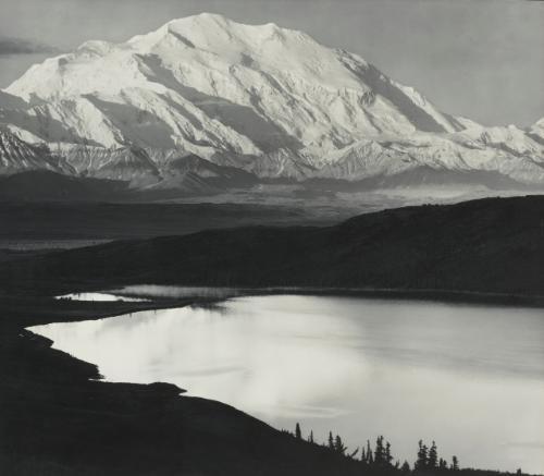 mount mckinley and wonder lake denali national park alaska by ansel adams