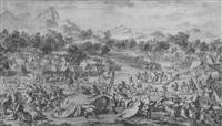 la batalla de oroi- jalatu (5 works) by jacques philippe le bas