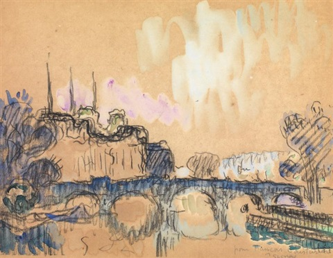 vue dun pont by paul signac