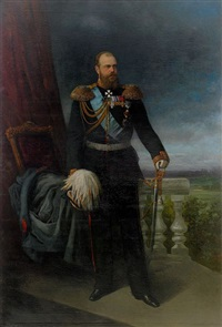 portrait of emperor alexander iii by stephan fedorovich alexandrovski