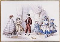 modes enfantines, six enfants dans un intérieur by jules david
