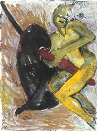 o.t. (gelbe frau auf einer anthurie) by elvira bach