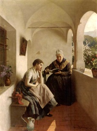 story time on the balcony by albert ritzberger