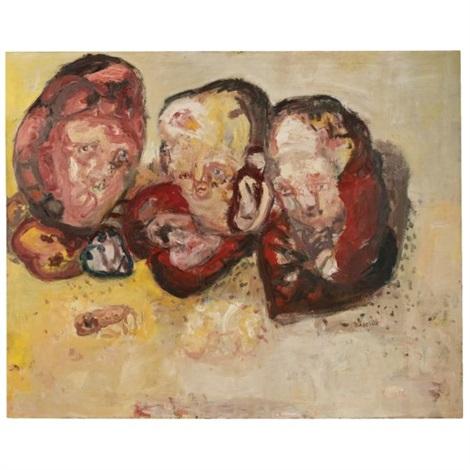 drei herzen (three hearts) by georg baselitz