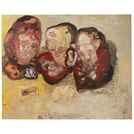 drei herzen three hearts by georg baselitz