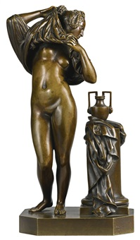 femme ôtant sa chemise (a woman undressing) by jean jacques pradier