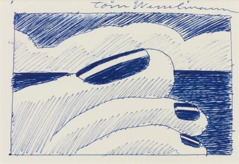 study for seascape 26 by tom wesselmann