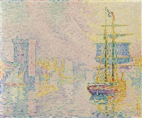 marseille, la brume jaune by paul signac