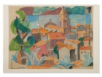 Town in Southern France, 1930