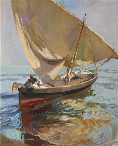 camino de la pesca valencia setting out to sea valencia by joaquin sorolla y bastida