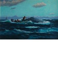 whaling scene by hjalmar amundsen