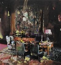 pie fight interior 11 by adrian ghenie