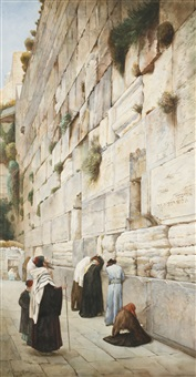 western wall, jerusalem by gustav bauernfeind